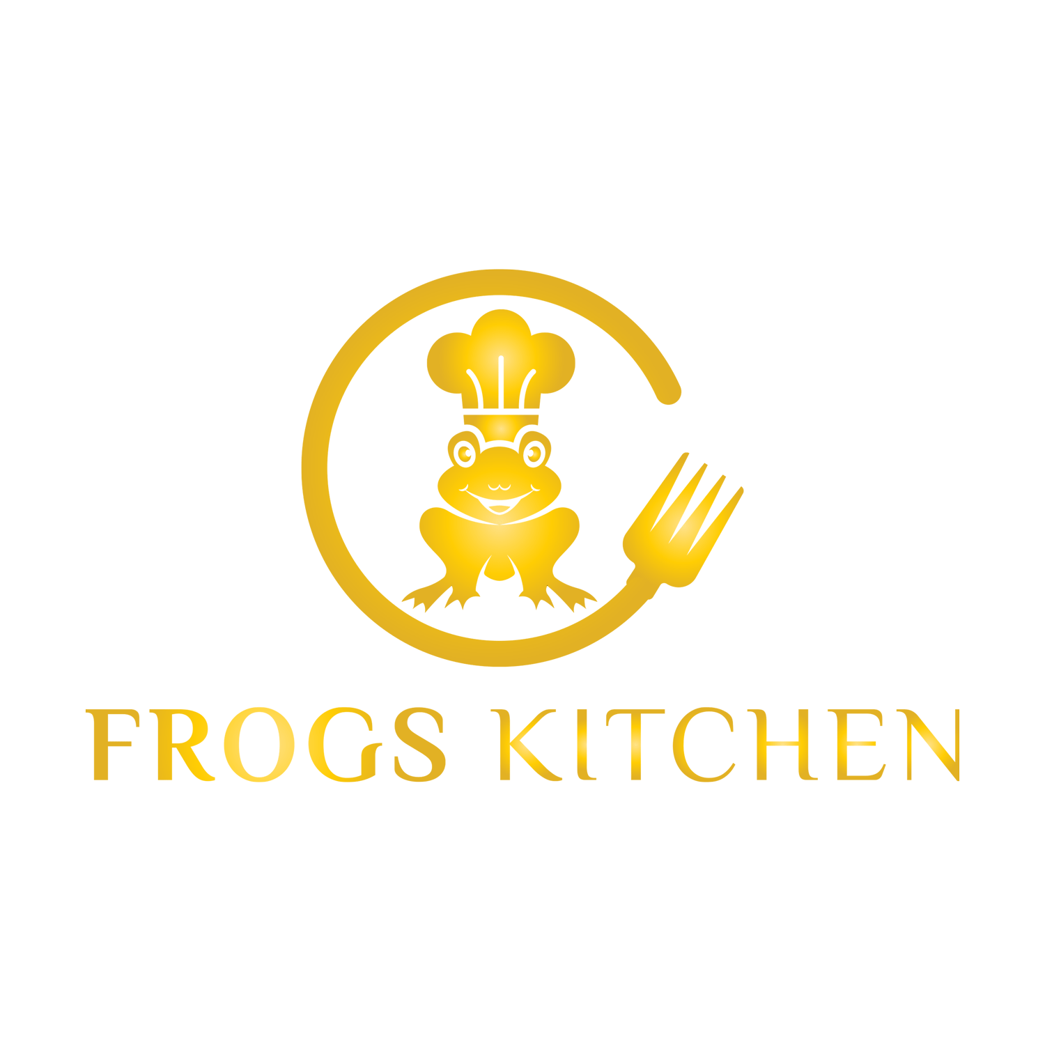 logo frogs kitchen doré