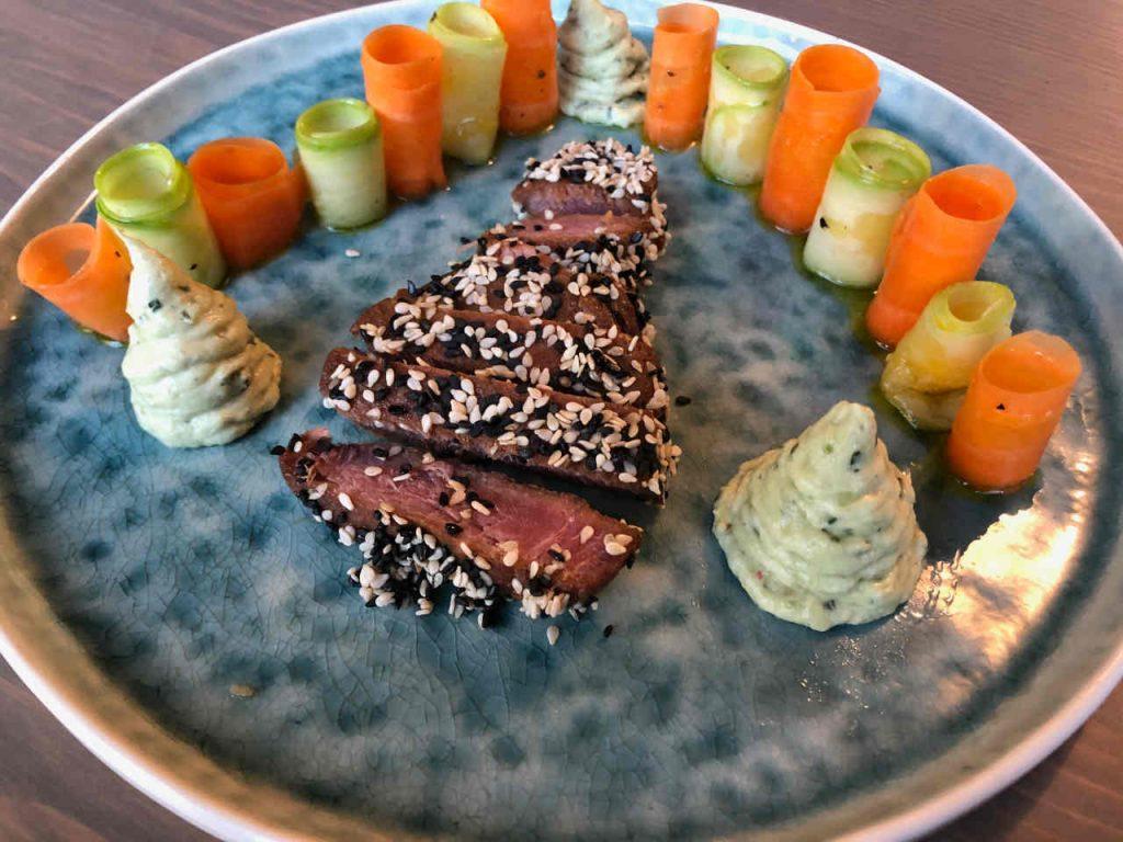 cours de cuisine à domicile Orléans, thon rouge mariné au soja
