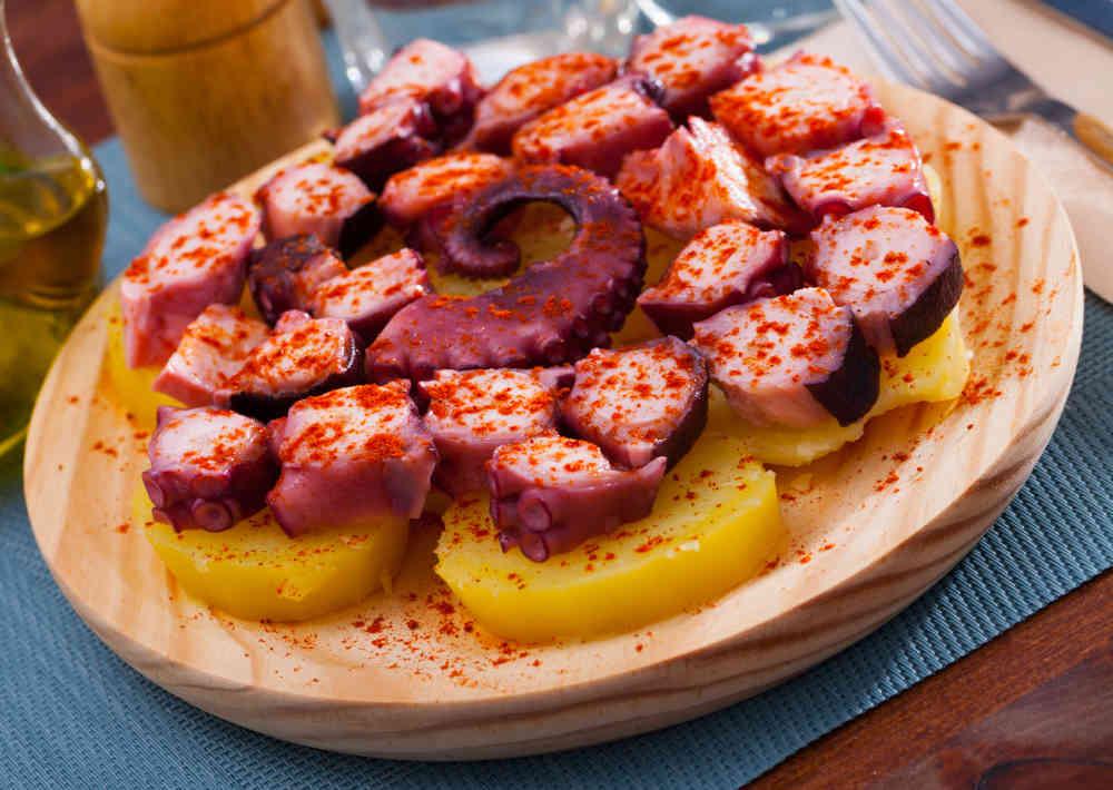 Galician octopus in feira