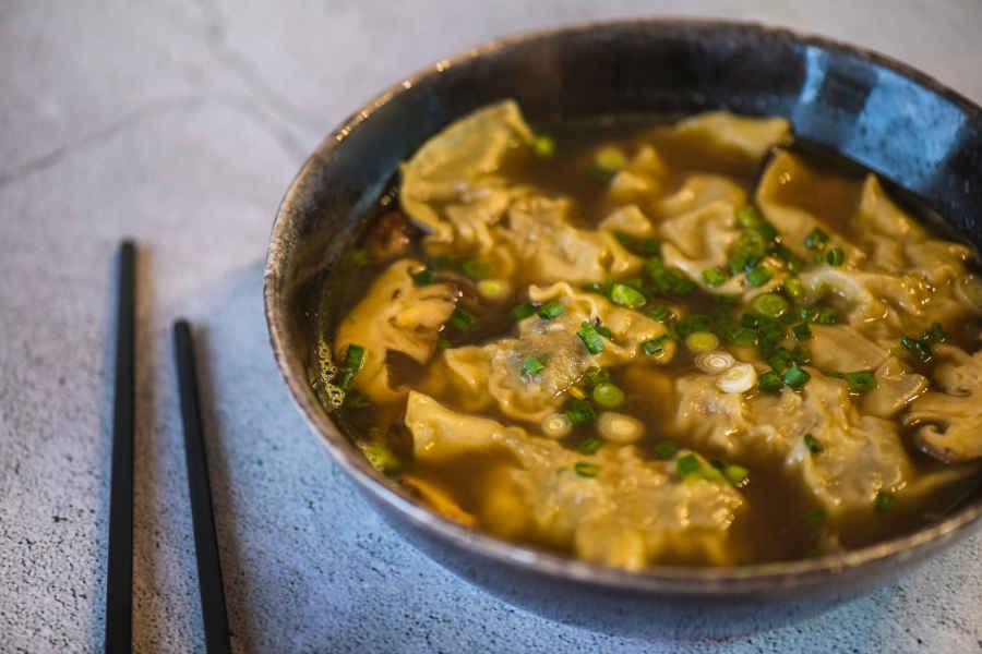 raviolis de crevettes et shiitake
