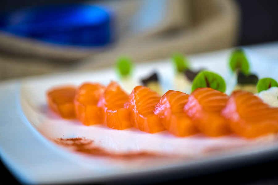 gravlax de saumon